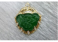 Diamond Jade Pendant